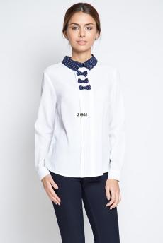 ХИТ продаж: белая блузка с бантиками Marimay
