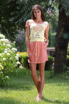 Домашнее платье с поясом на кулиске FIORITA