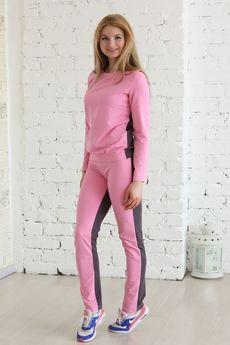 Двухцветный спортивный костюм: джемпер и брюки FIORITA