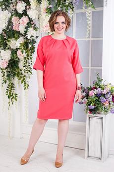 Платье со складками по горловине Angela Ricci
