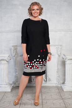 Офисное платье с брошью Angela Ricci