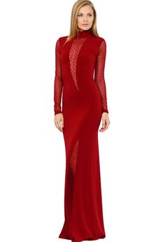 Вечернее бордовое длинное платье Mondigo