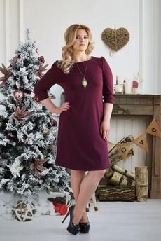 Бордовое платье футляр Шарлиз